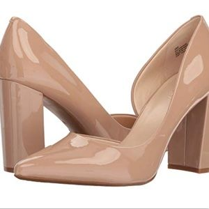 Nine West Block Heel Pumps US 6M Beige Nude